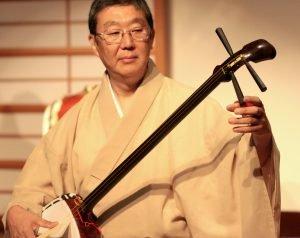 Toyoaki Sanjuro - Tatsu Aoki Playing Shamisen